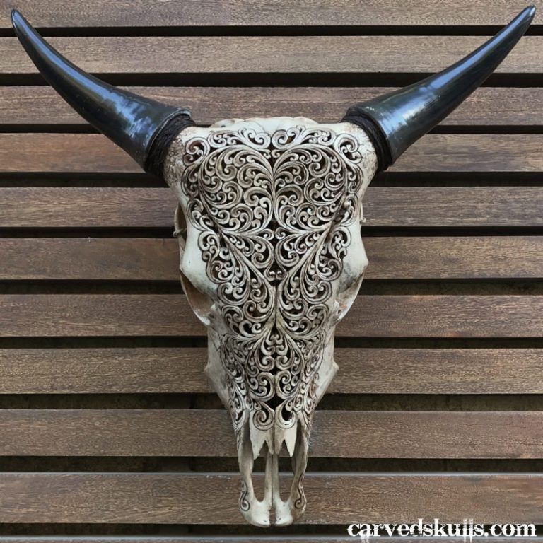 Carved Bull Cow Skull with Heart Design – Antique IMG 0679dw 768x768