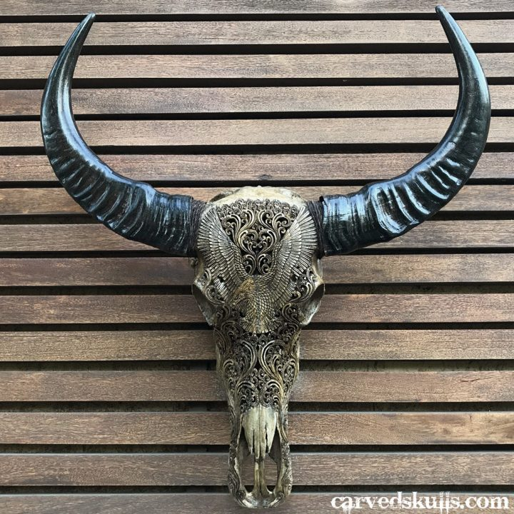 buffalo skull Carved Buffalo Skull with Eagle Design – Antique IMG 2407w 720x720